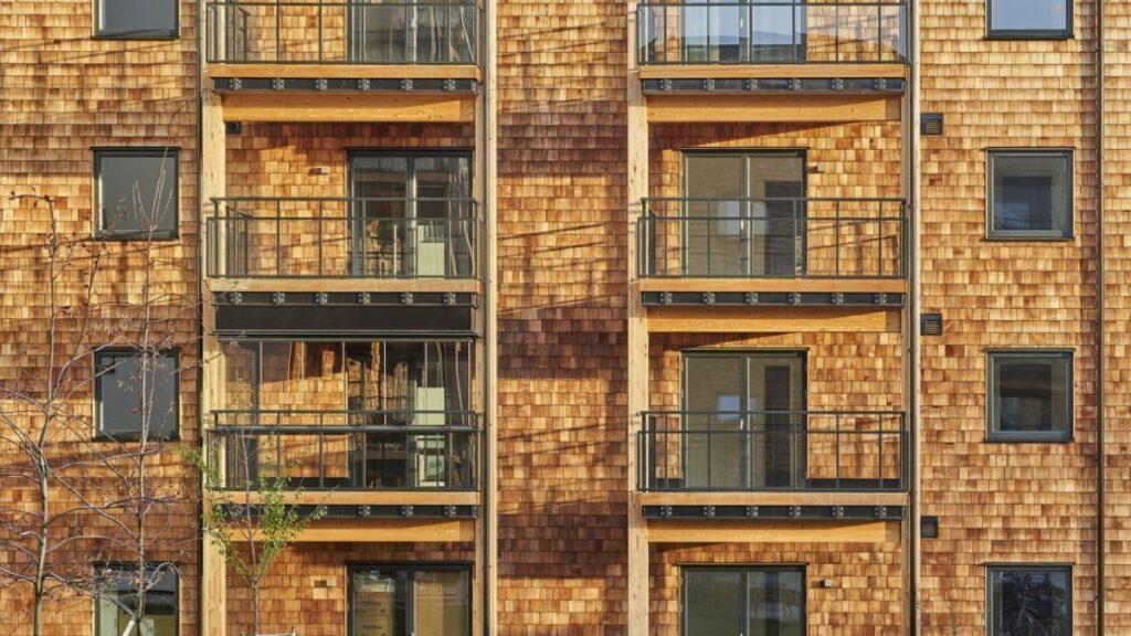 Holzfassade Wohnhaus in Südschweden Växjö