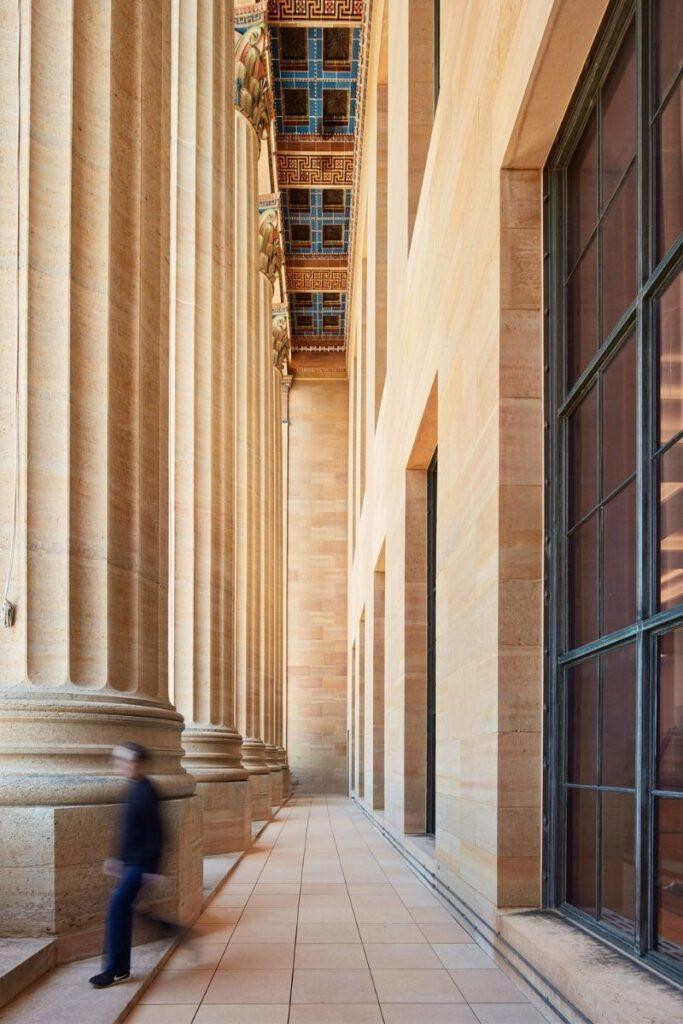Säulen in der Lenfest Halle