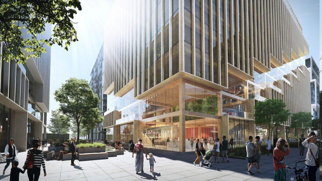 Höchstes Holz-Gebäude in Nordamerika