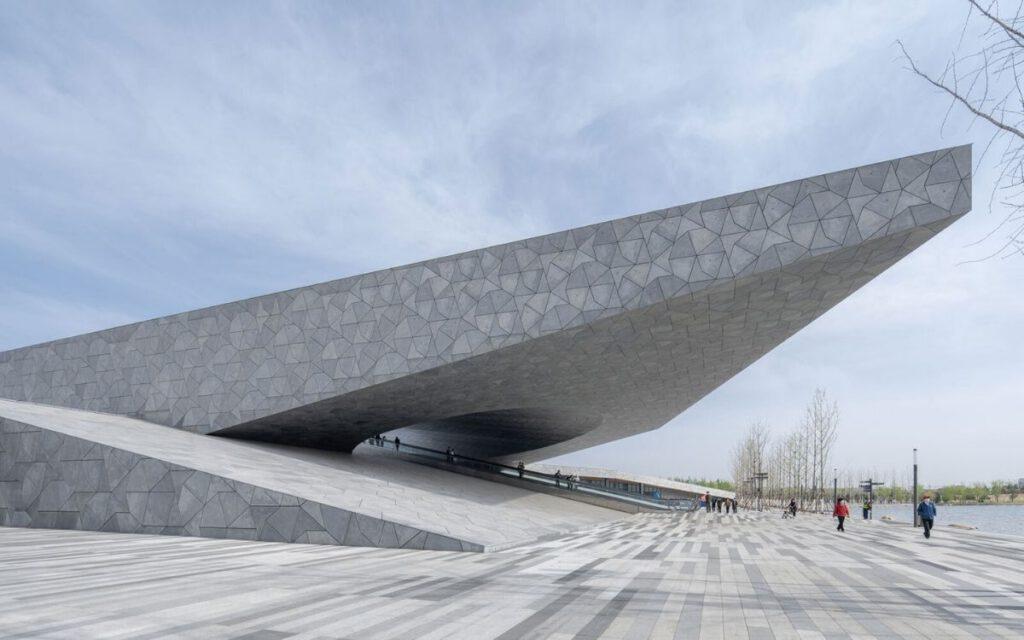 Eingangsbereich zum 2021 eröffneten botanischen Garten in Taiyuan