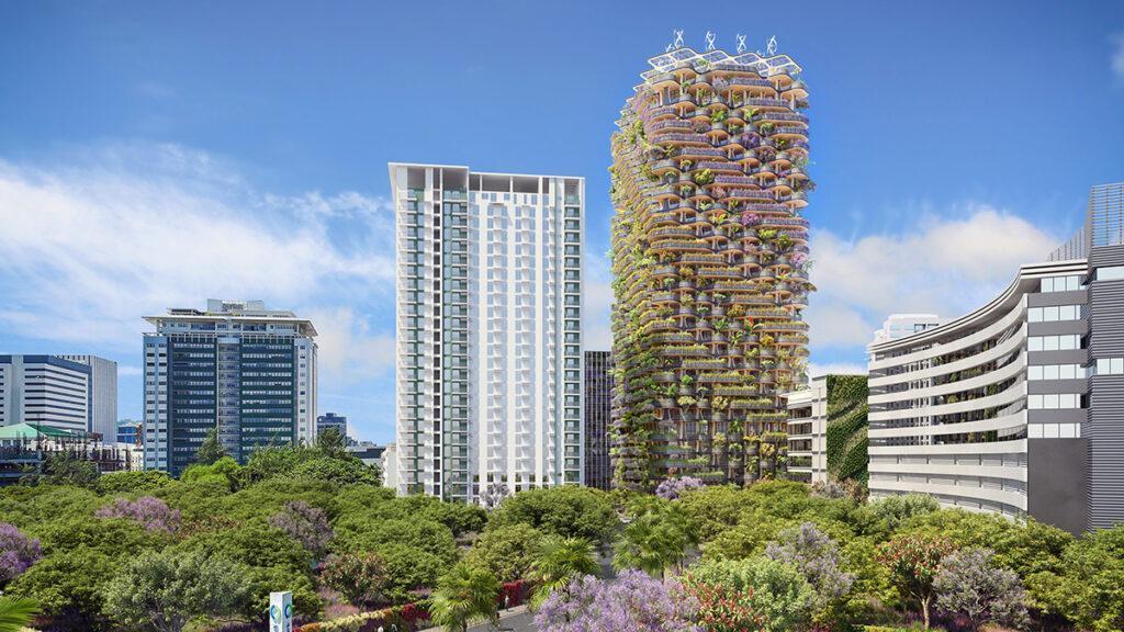 """Zukunft wohnt im """"Rainbow Tree"""" (Bild: Vincent Callebaut Architecture)"""
