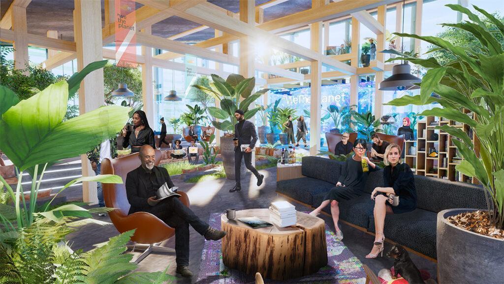 """Im neuen """"We the Planet""""-House soll viel Raum für Networking geschaffen werden. (Bild: 3deluxe)"""