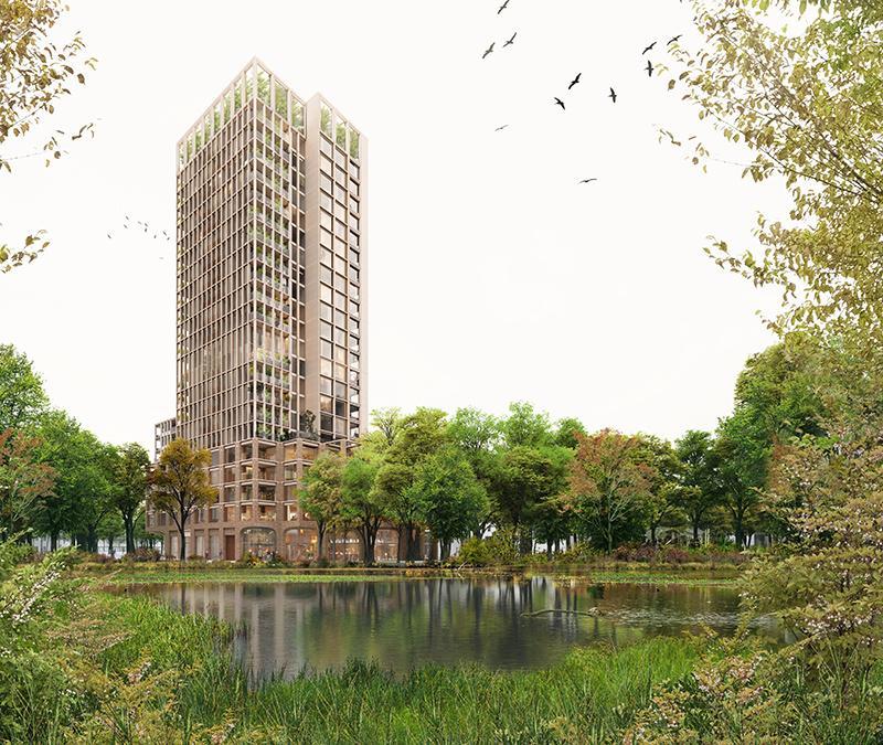 """""""Der Klimawandel ändert alles"""". Das grüne Wohnquartier """"HOLT"""" von Powerhouse Company. (Bild: Proloog)"""