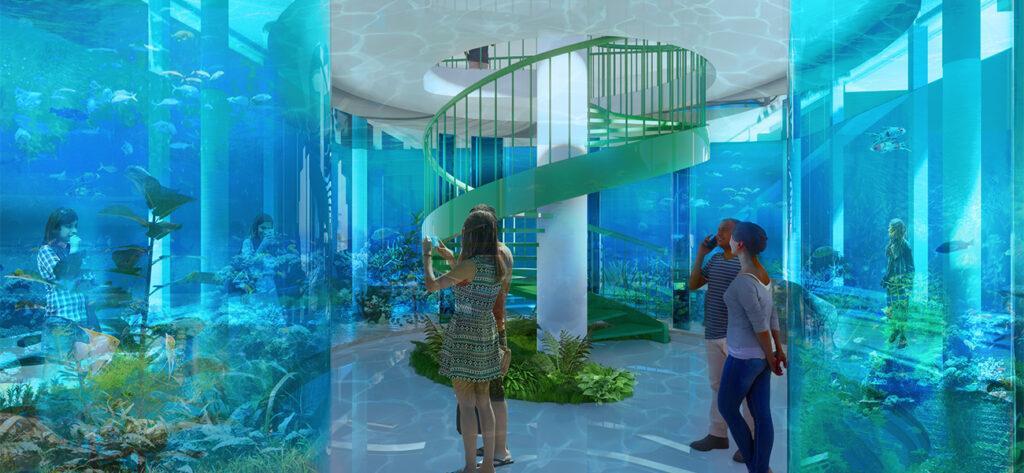 """Natur auch unterm Biotop: Im Inneren des """"We the Planet""""-House soll ein Aquarium entstehen. (Bild: 3deluxe)"""