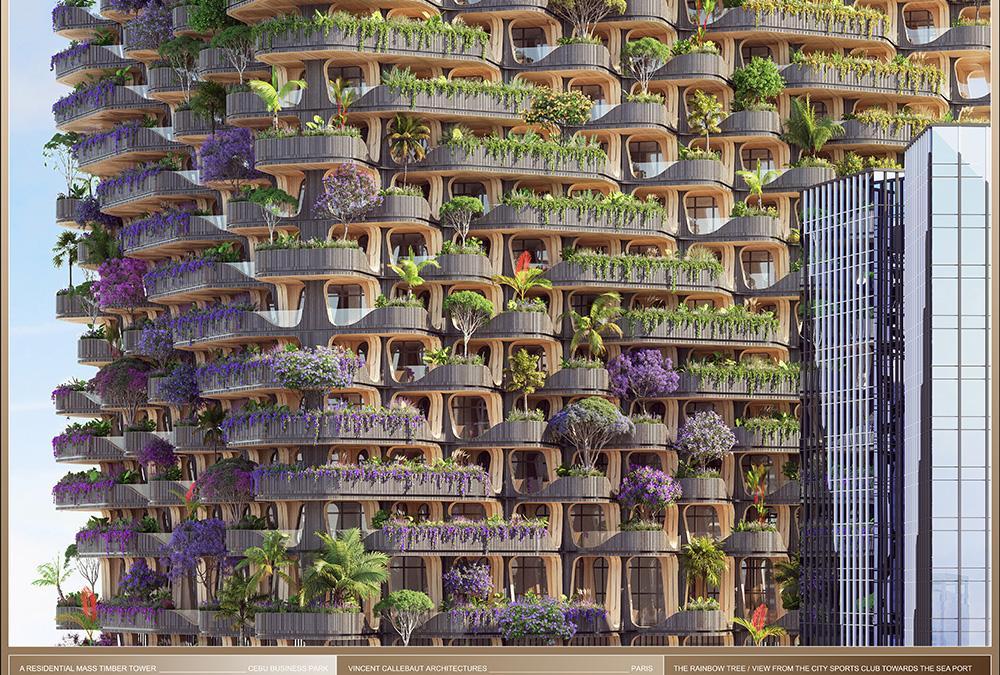 """Das Design des """"Rainbow Tree""""-Turms ist vom gleichnamigen Baum inspiriert. (Bild: Vincent Callebaut Architecture)"""