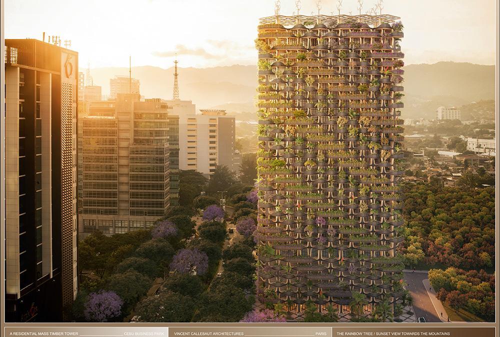 """Zukunft wächst im """"Rainbow Tree"""". (Bild: Vincent Callebaut Architecture)"""