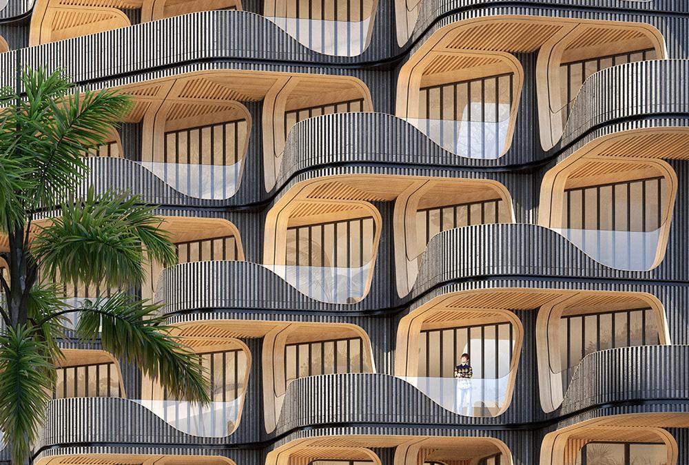 """Zukunft wohnt im """"Rainbow Tree"""". (Bild: Vincent Callebaut Architecture)"""