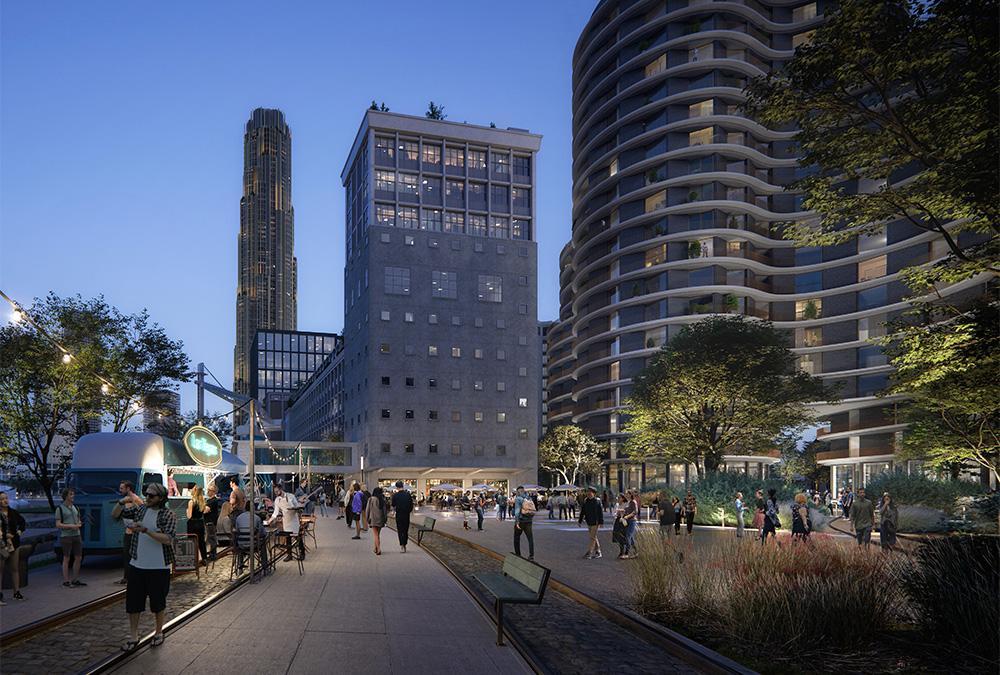 Masterplan für Rotterdam: Das Büro Powerhouse Company verwandelt das historische Codrico Gelände in einen glitzernden Mix aus Alt und Neu. (Bild: Plomp)
