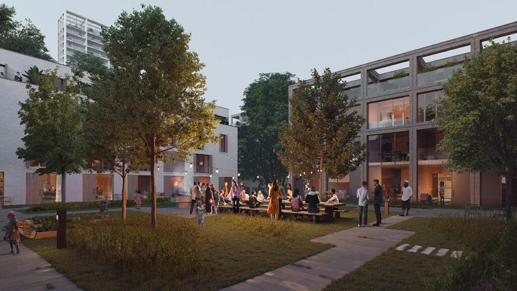 """Schlüsselfaktor """"soziale Interaktion"""": Das Wohnquartier """"HOLT"""" bietet viel Raum für gemeinsame Aktivitäten. (Bild: Proloog)"""