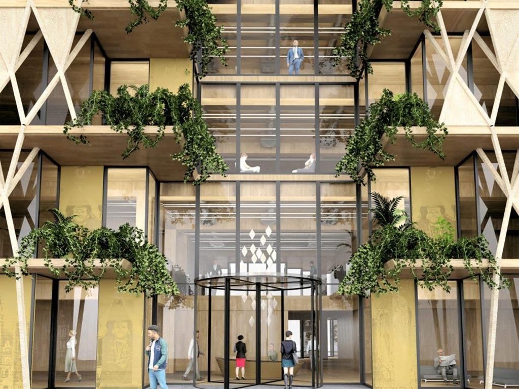 Entrance, Saint Denis, Arthur Mamou-Mani
