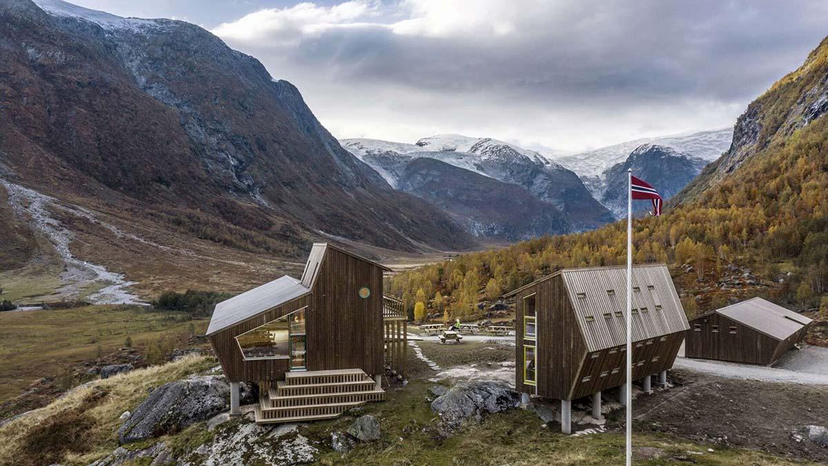 Fünfeckige Hütten, Snøhetta, Tungestølen
