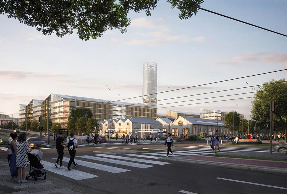 Das Olympische Dorf von morgen. (Bild: SOM / Pixelflakes)