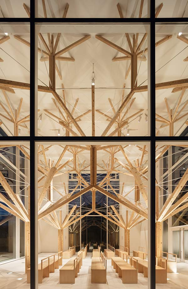 Holzstruktur, Agri Chapel, Yu Momoeda, Japan