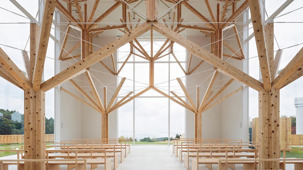 Hauptschiff, Agri Chapel, Yu Momoeda, Japan