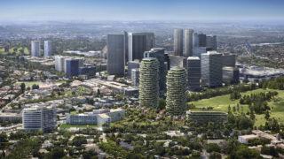 Die grünen Türme von Beverly Hills (Bild: DBOX / Foster + Partners)