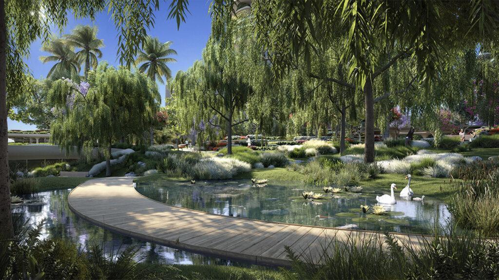 Die grünen Türme von Beverly Hills. (Bild: DBOX / Foster + Partners)