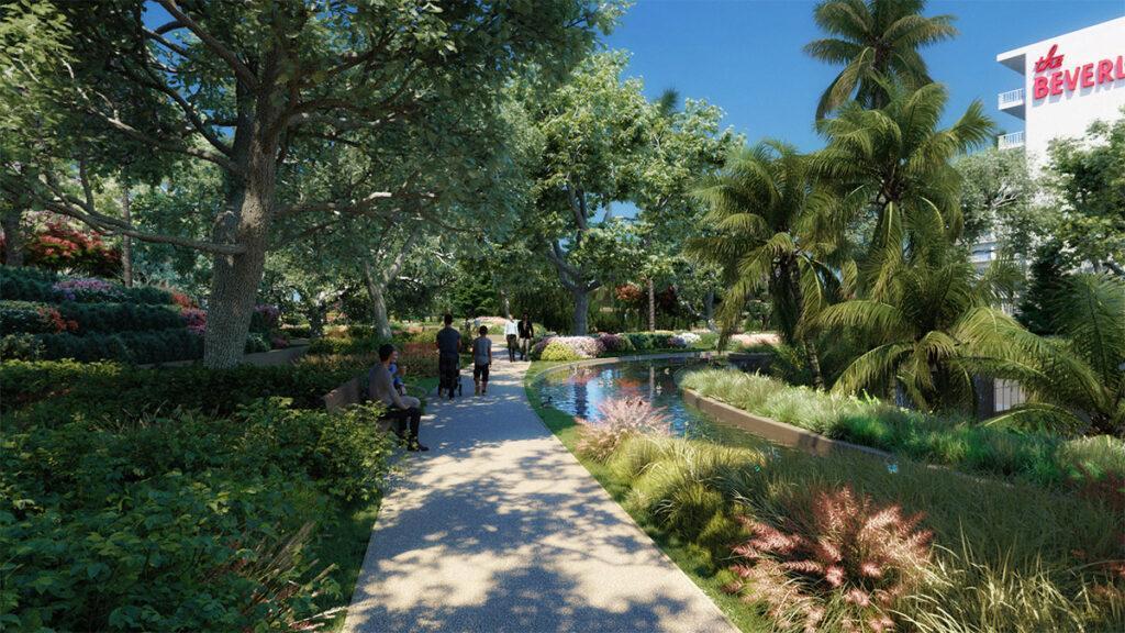 """""""One Beverly Hills"""" zählt zu den größten, ambitioniertesten Umweltprojekten der USA. (Bild: DBOX / Foster + Partners)"""