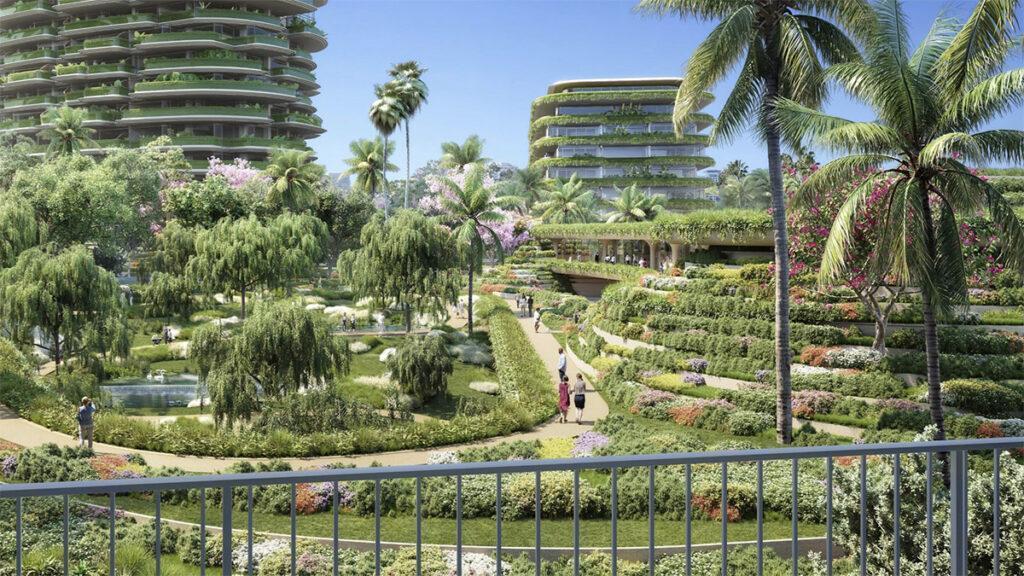 Die grünen Türme von Beverly Hills. (Bild: Foster + Partners)