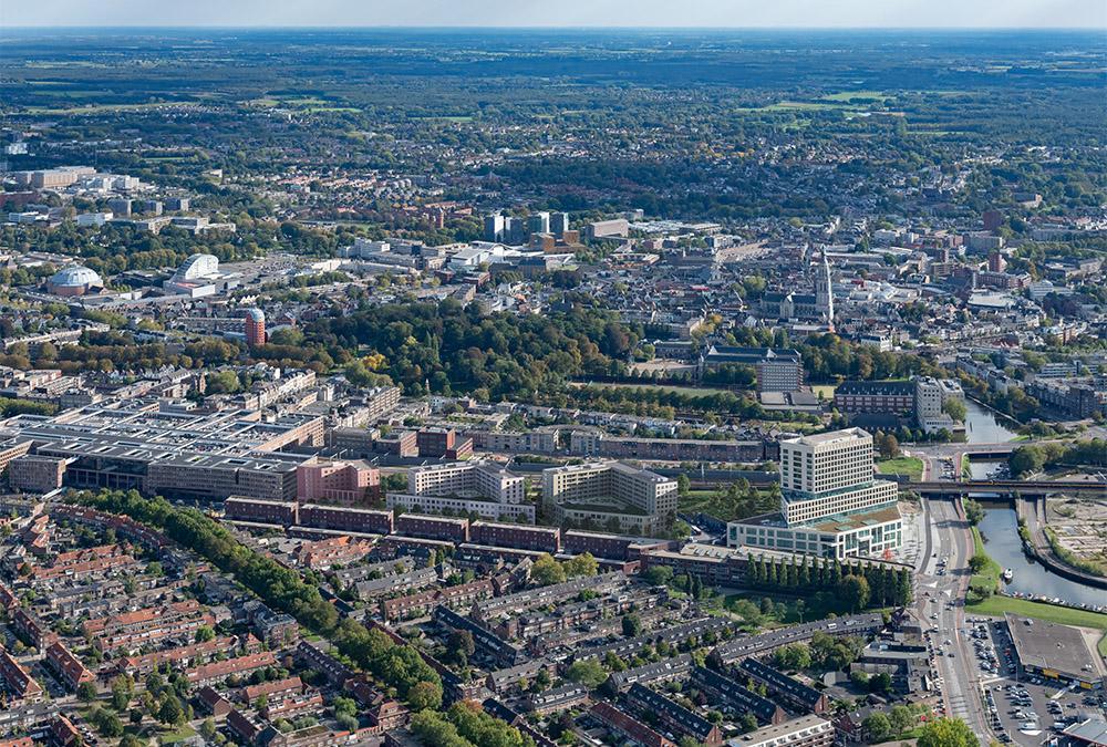 Attraktives Quartier zwischen Bahnschienen und Stadtzentrum: Bredas neuer Mixed-Use-Komplex 5-Tracks. (Bild: Powerhouse Company)