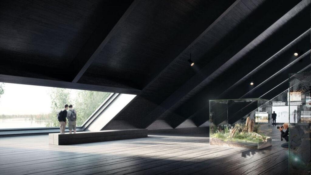 Langhuset zu Ehren der Feuchtgebiete Norwegens