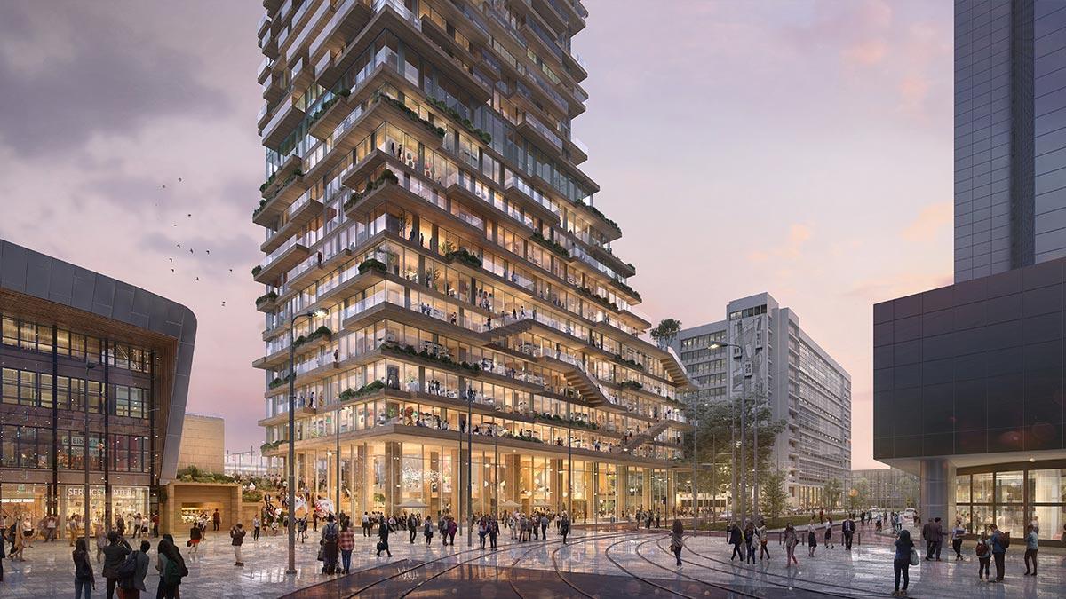 Plaza, Tree House Rotterdam, PLP Architects