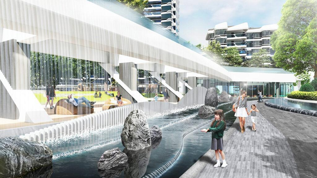 Der Wasser-Wohnpark von Zhuhai (Bild: LWK + Partners)