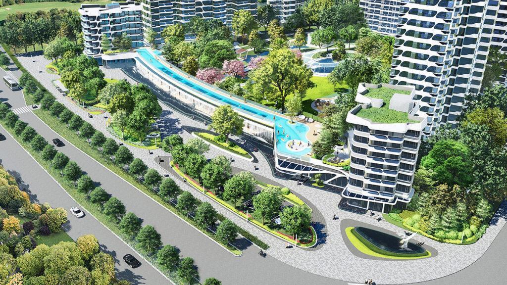 "Die neue Wohnanlage ""TianhengBayview"" in Zhuhai. (Bild: LWK + PARTNERS)"