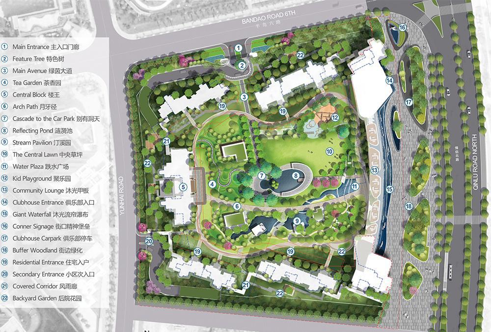 Der Masterplan des außergewöhnlichen Projekts im chinesischen Zhuhai. (Bild: LWK + PARTNERS)