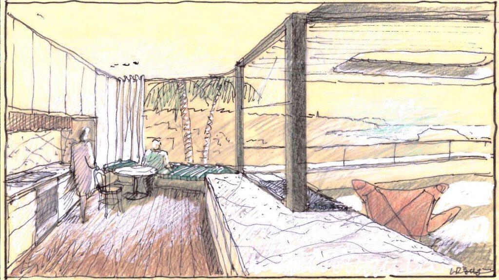 die Planung für das Above Board Living House von Luigi Rosselli Architects