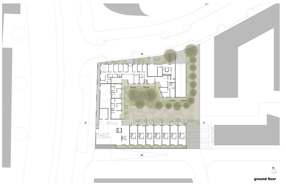 Viel Grün und kommunikativer Raum im Erdgeschoss. (Bild: Nerma Linsberger)