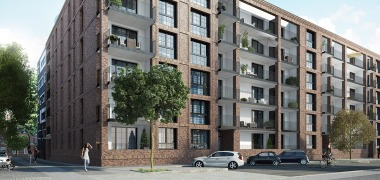 "Milestone for ""The Brick"" in Hamburg-Ottensen: urban residential project with 101 units celebrates topping-out ceremony"