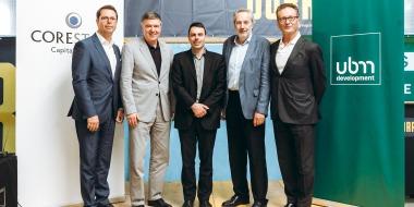 Gleichenfeier in Wien: Serviced Apartment-Projekt im Quartier Belvedere Central (QBC) wird im Juni 2019 eröffnet.