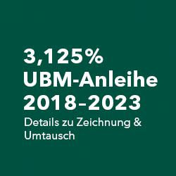 3,125% UBM-Anleihe 2018-2023 (Zeichnung & Umtausch)