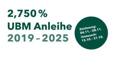 Emission einer 6-jährigen UBM-Anleihe mit Kupon von 2,750%
